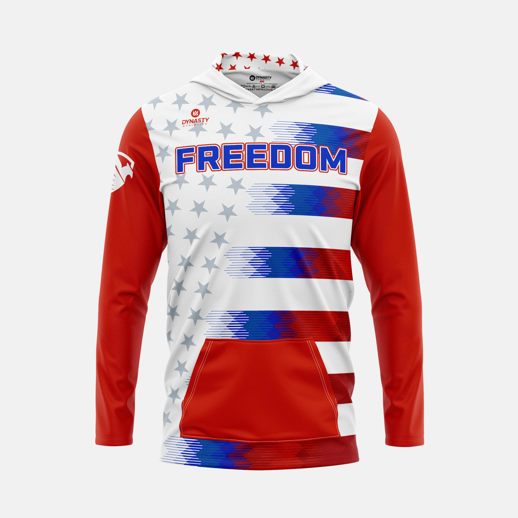 Freedom Hooded Pullover Front View