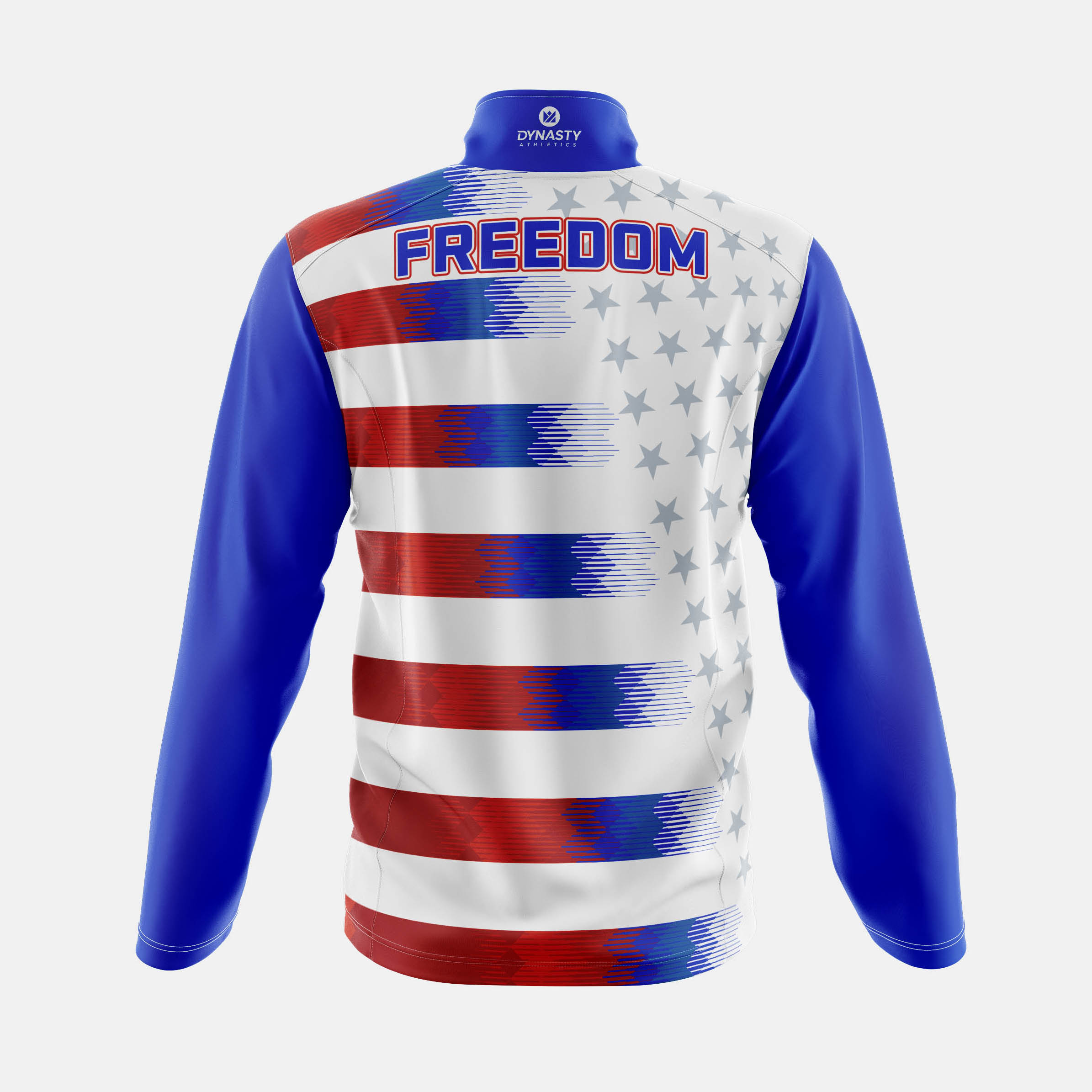 Freedom Qtr Zip Tack Jacket Back View