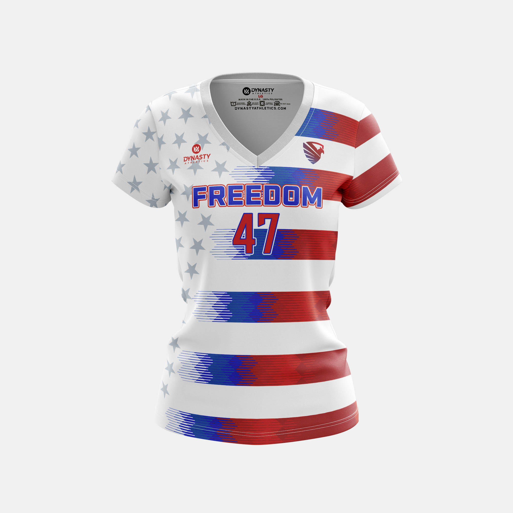 Freedom Womens Cap Sleeve V Neck Front View