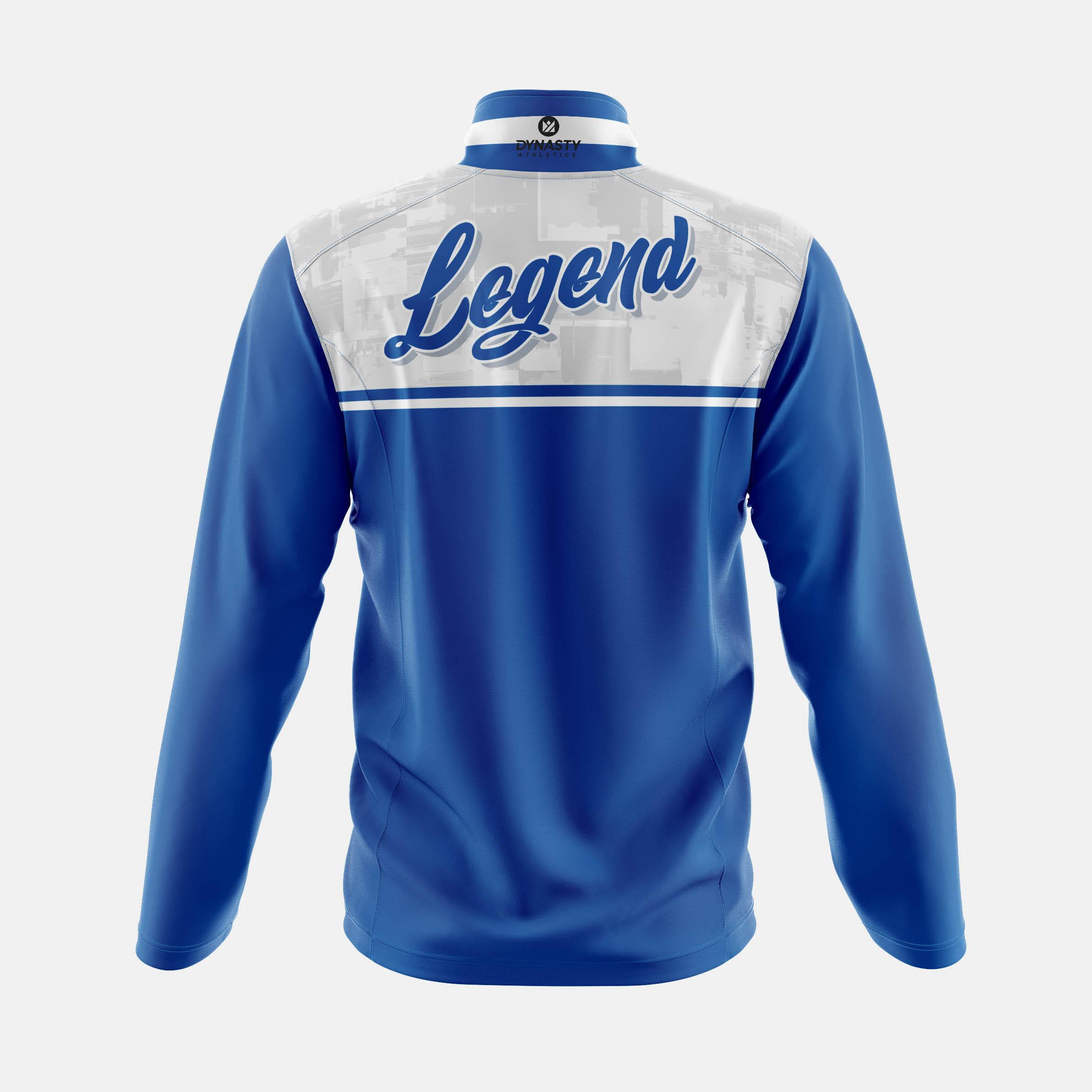 Legend Qtr Zip Tack Jacket Back View