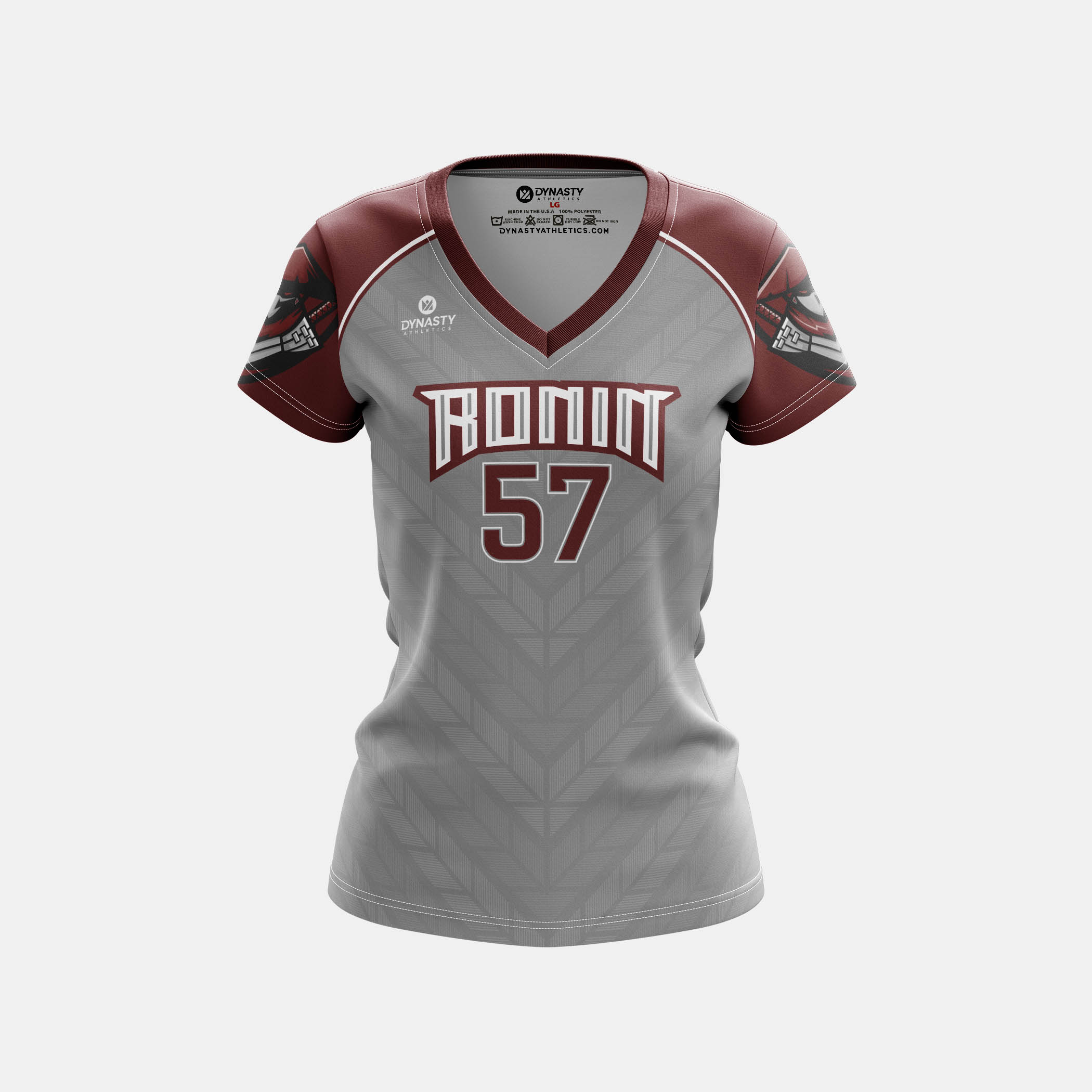 Ronin Womens Cap Sleeve V Neck Front View