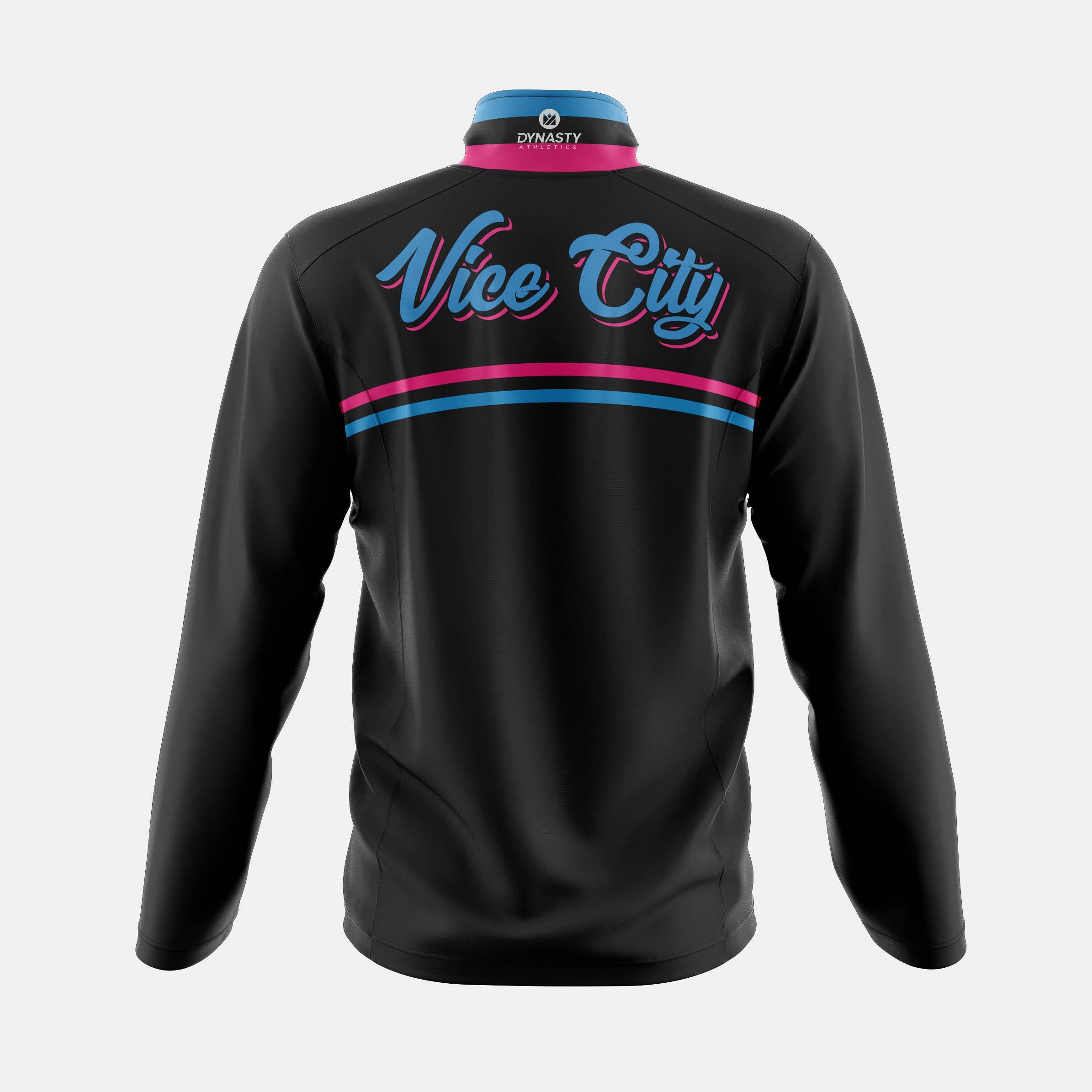 Vice Qtr Zip Tack Jacket Back View