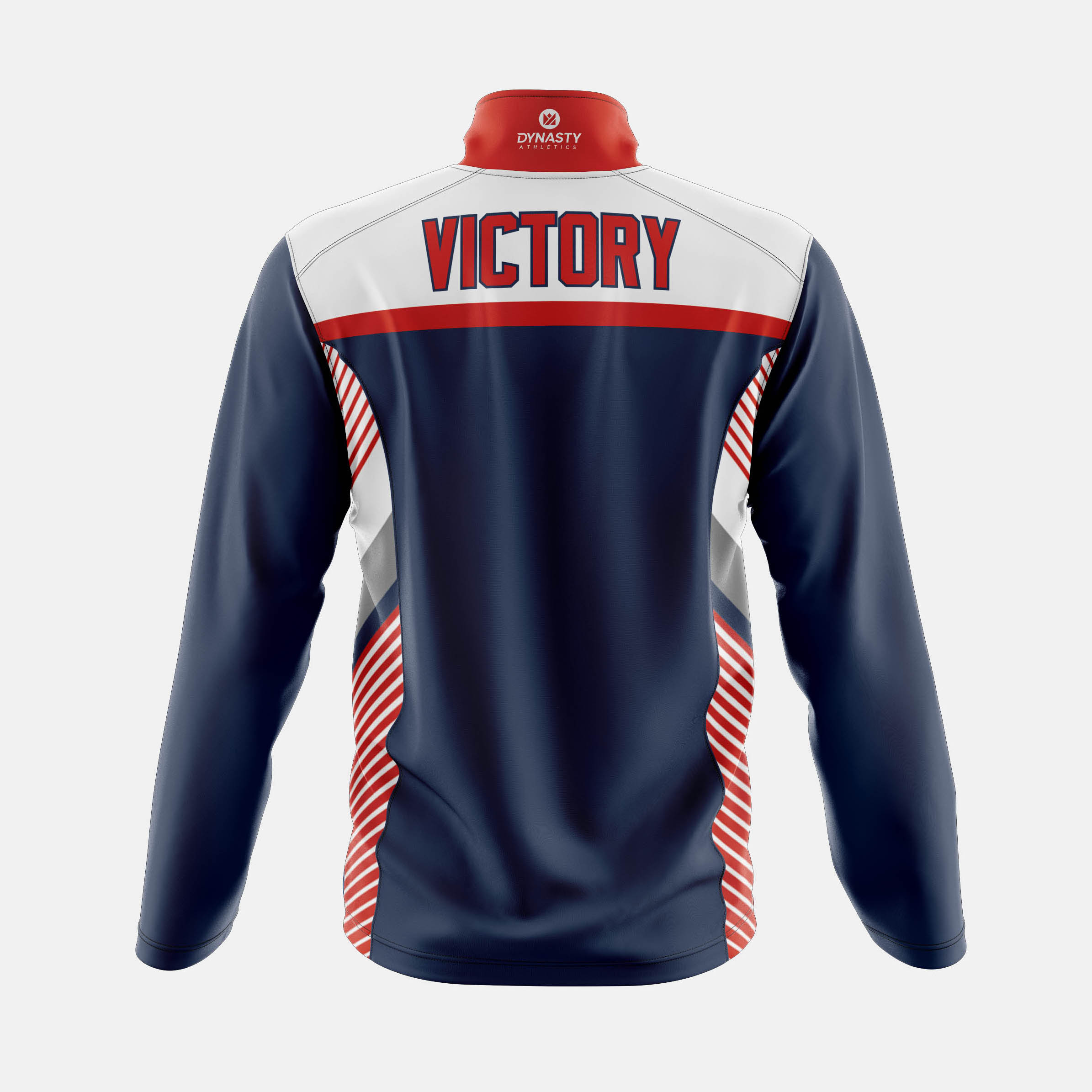 Victory Qtr Zip Tack Jacket Back View
