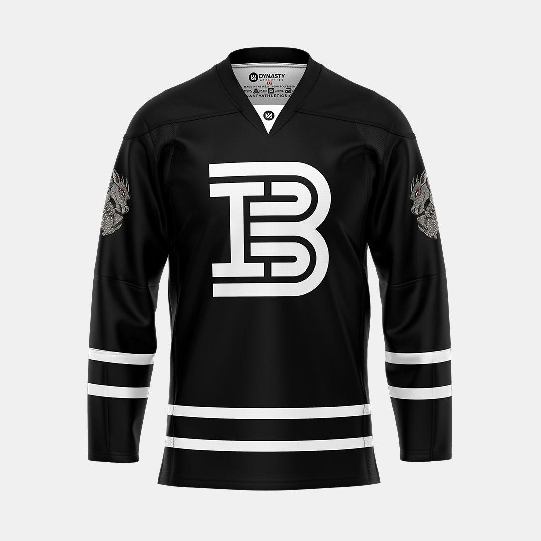 Barwis Black Hockey V Neck Front View