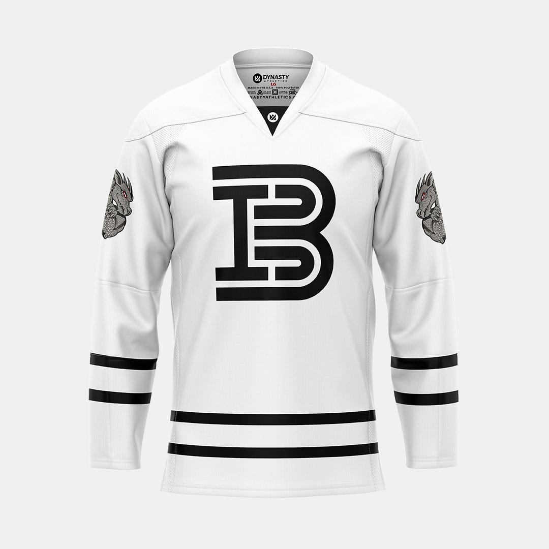 Barwis White Hockey V Neck Front View