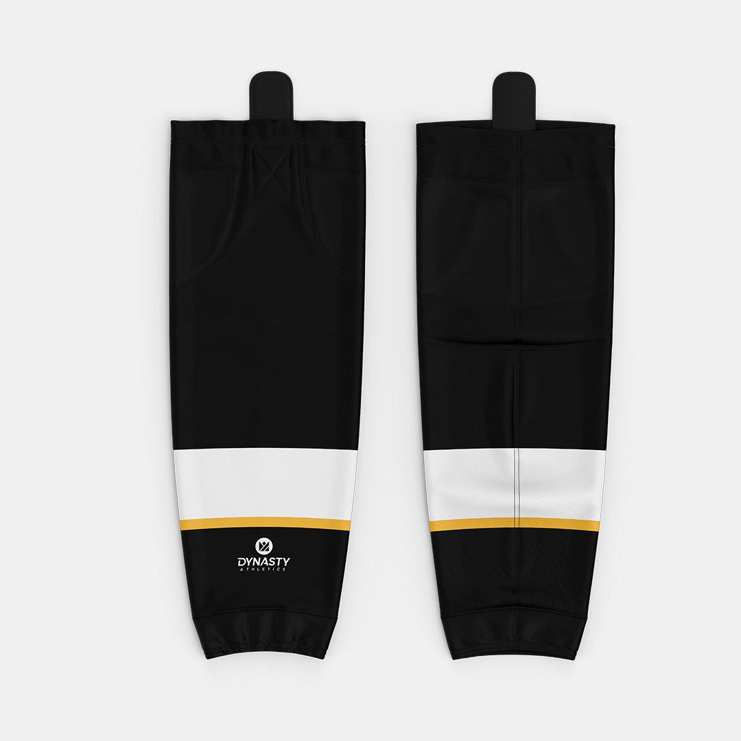 Dynasty Black Hockey Socks