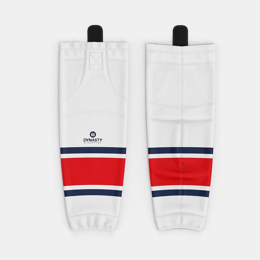 Labatt White Hockey Socks