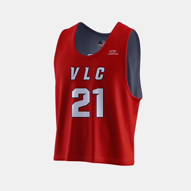 Crabs Reversible Pinnie Front View VLC Red