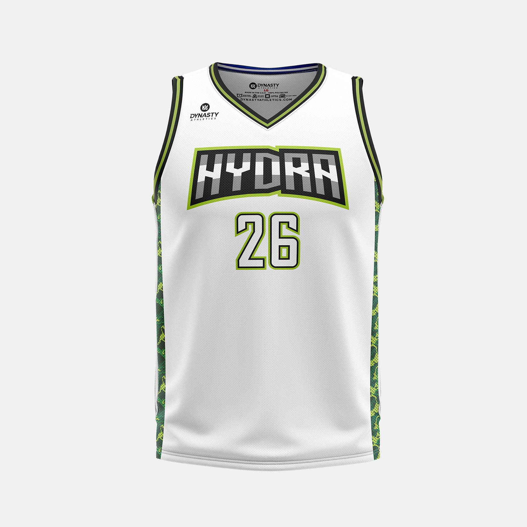 Dynasty Athletics Hydra VNeck Basketball Jersey Away Front