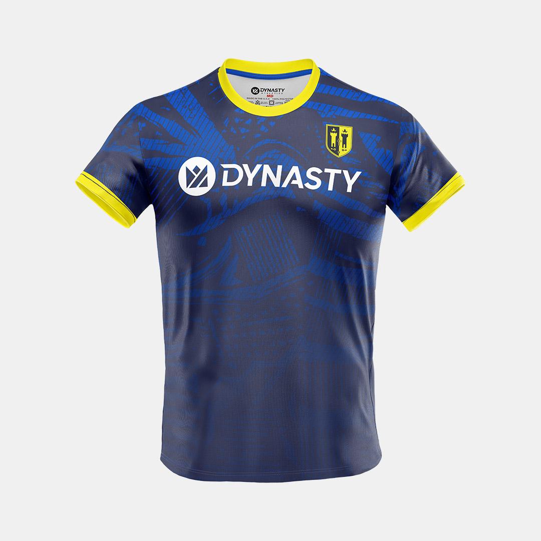 Dynasty Athletics Mens Soccer Jersey Self Navy Front