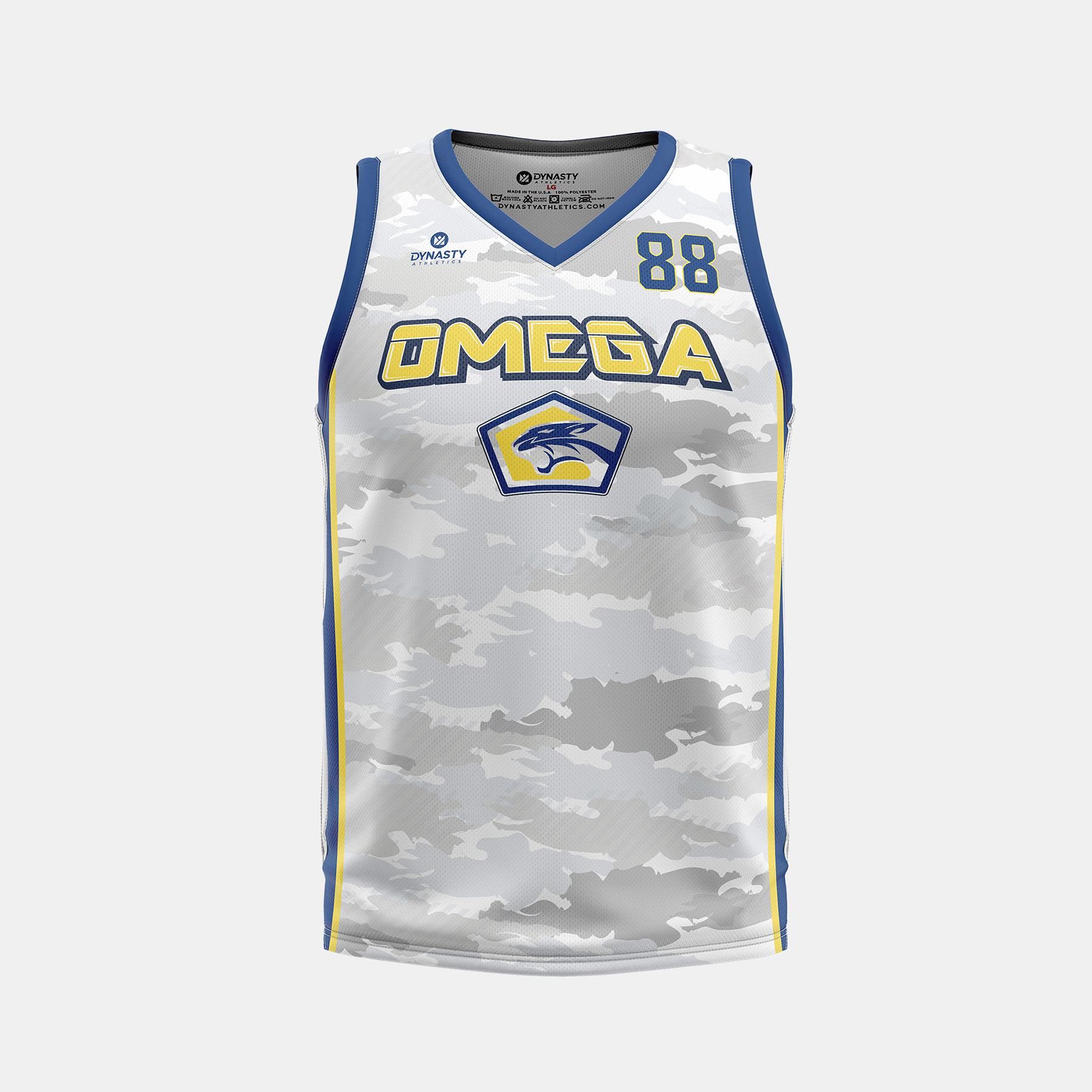 Dynasty Athletics Omega VNeck Basketball Jersey Away Front