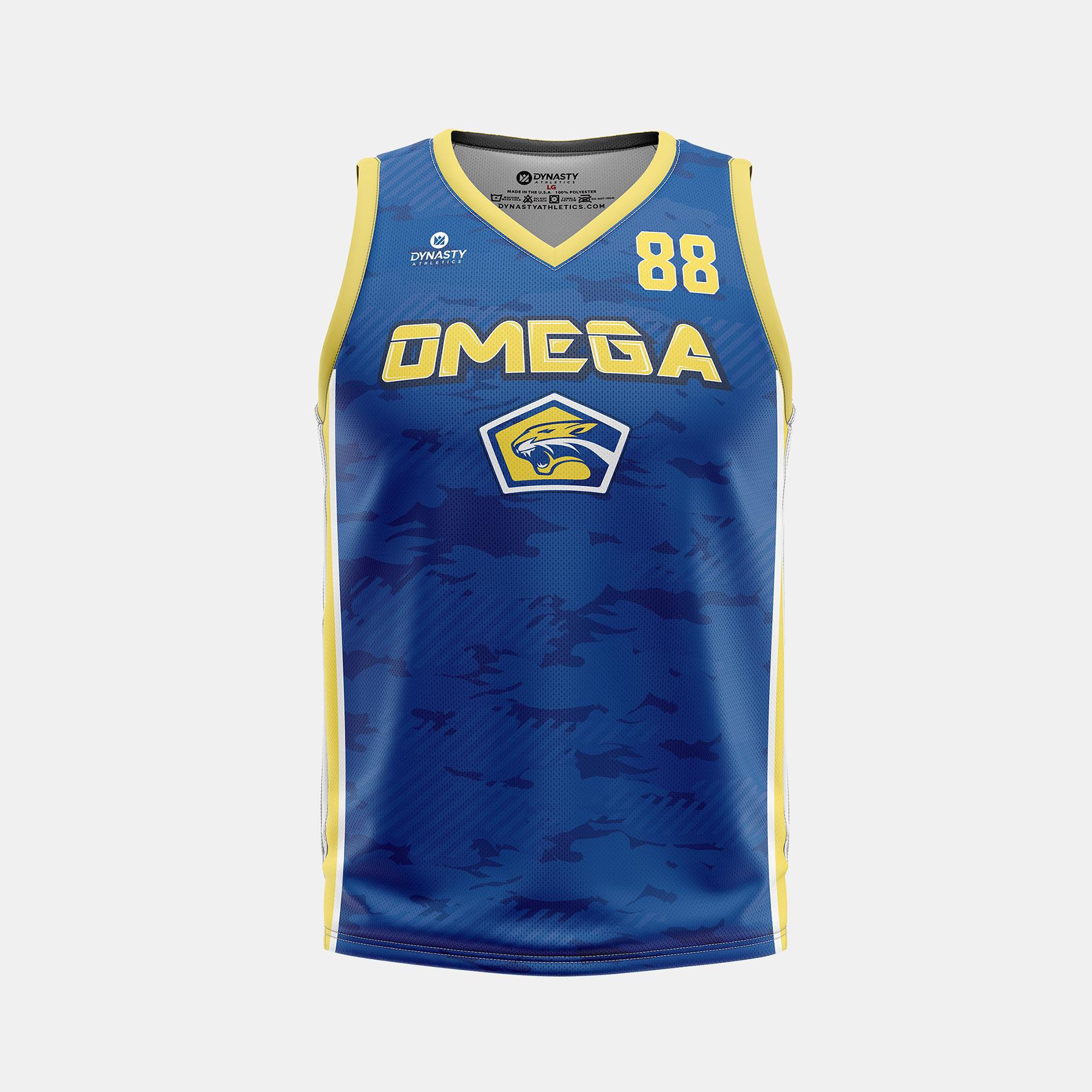 Dynasty Athletics Omega VNeck Basketball Jersey Home Front