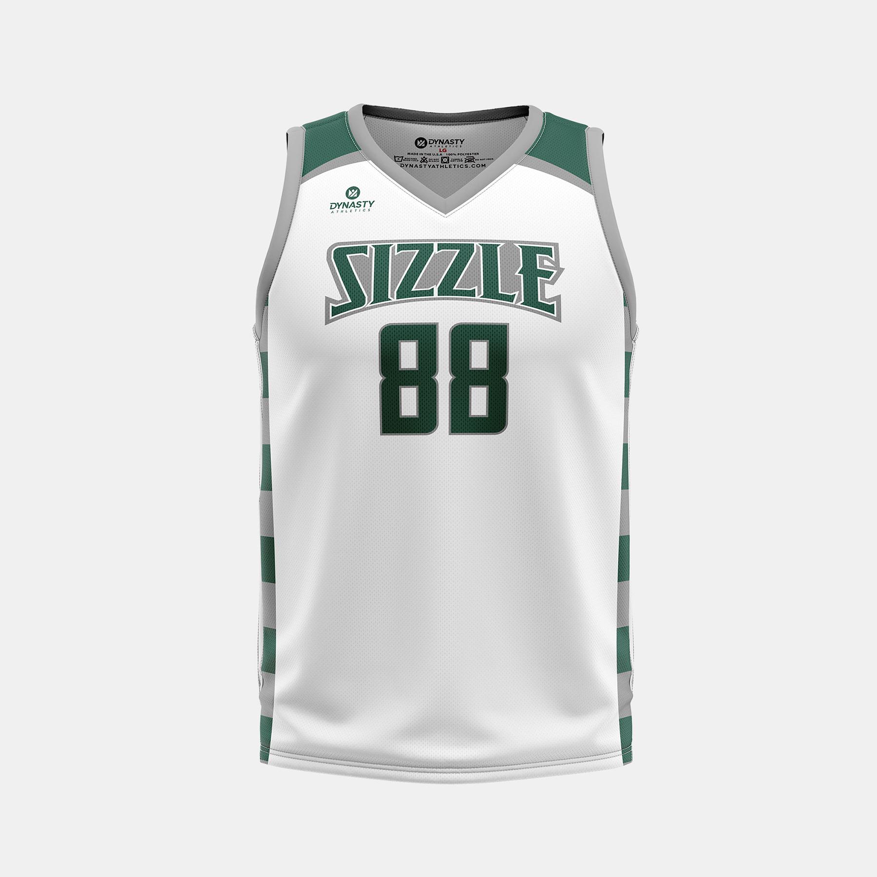 Dynasty Athletics Sizzle VNeck Basketball Jersey Away Front