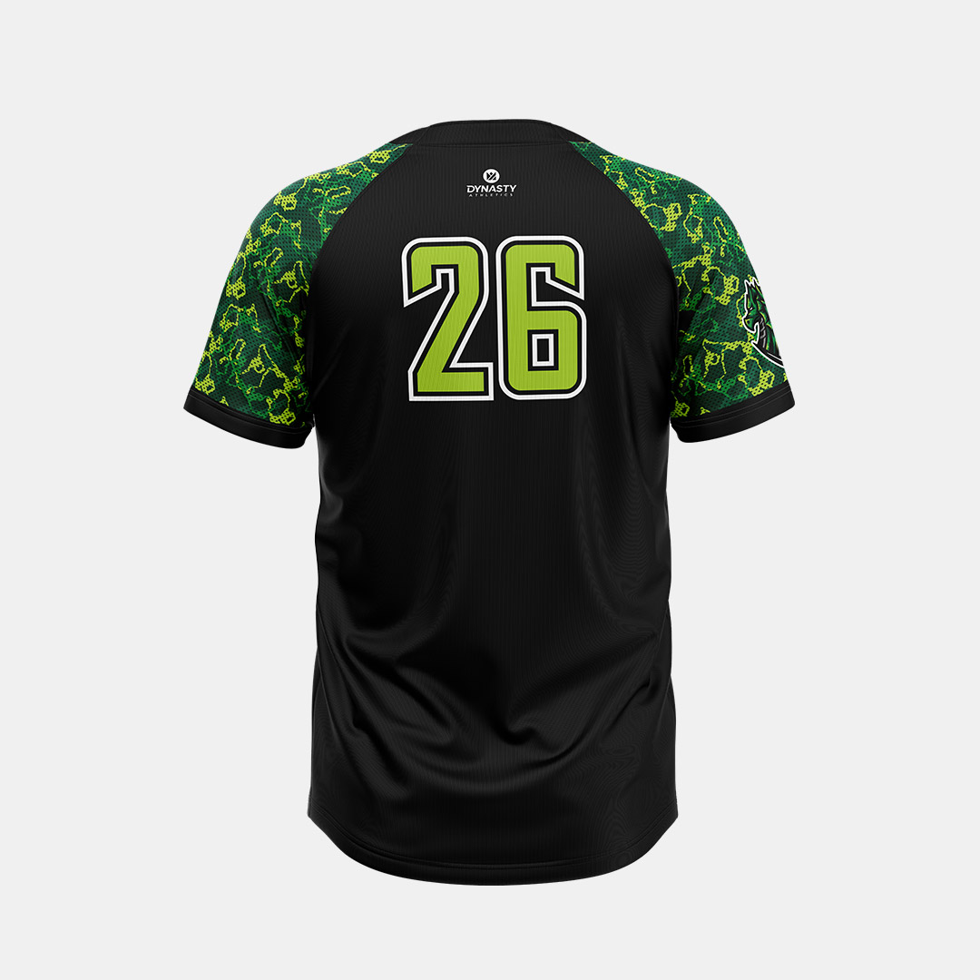 Dynasty Athletics Sublimated 2 Button Baseball Jersey Back Hydra