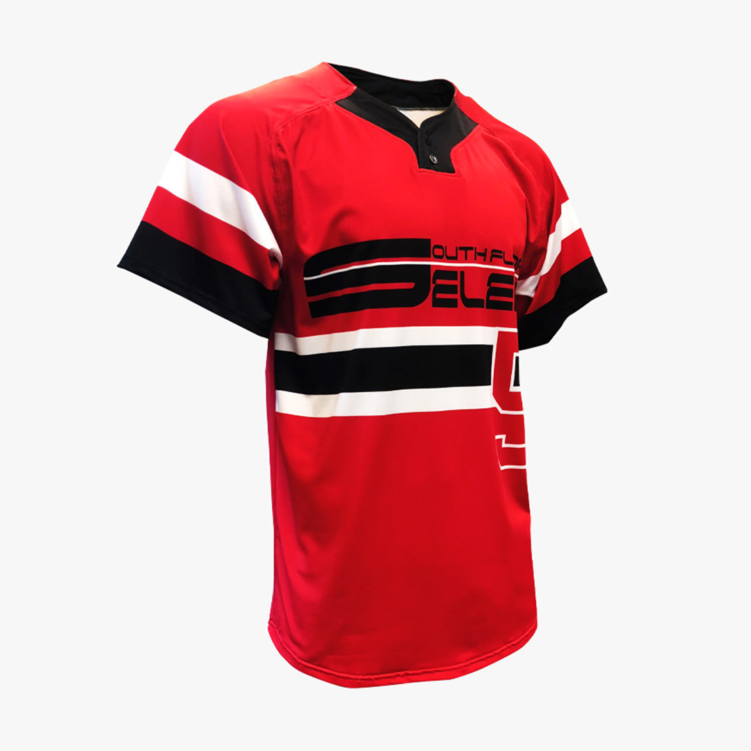 Dynasty Athletics Sublimated 2 Button Baseball Jersey Front Select
