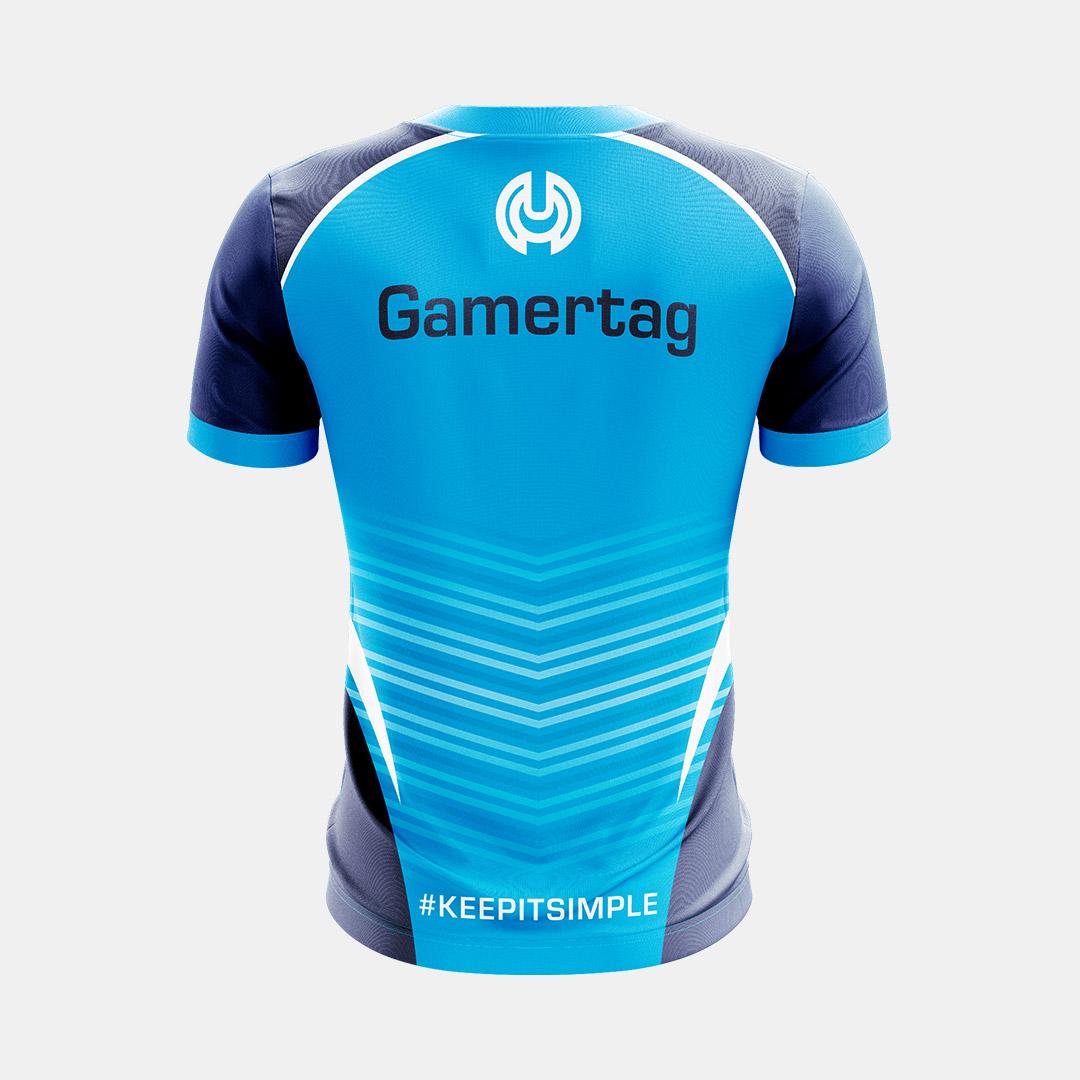 Dynasty Athletics Sublimated Esports Jersey Simplicity Blue Back