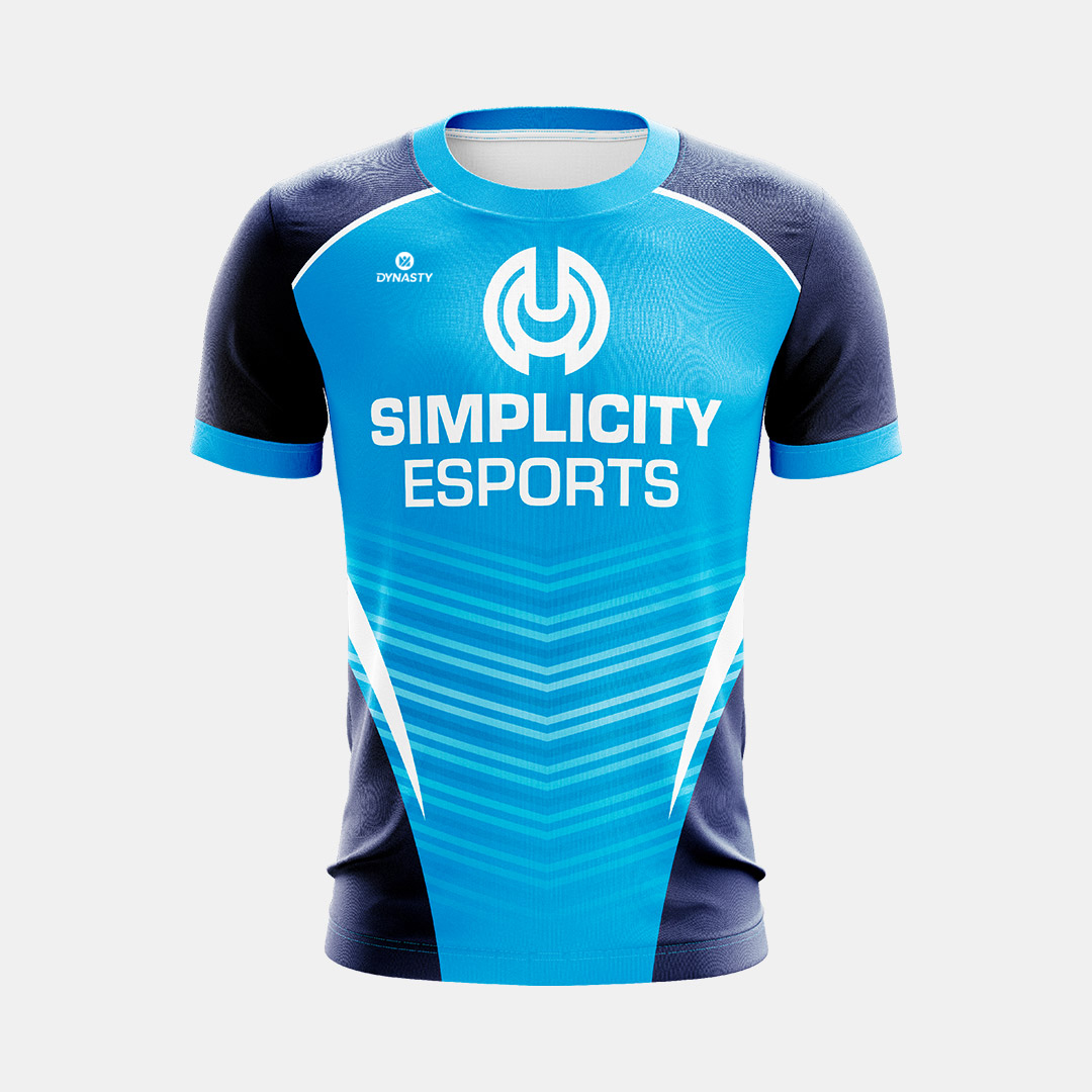 Dynasty Athletics Sublimated Esports Jersey Simplicity Blue Front 1