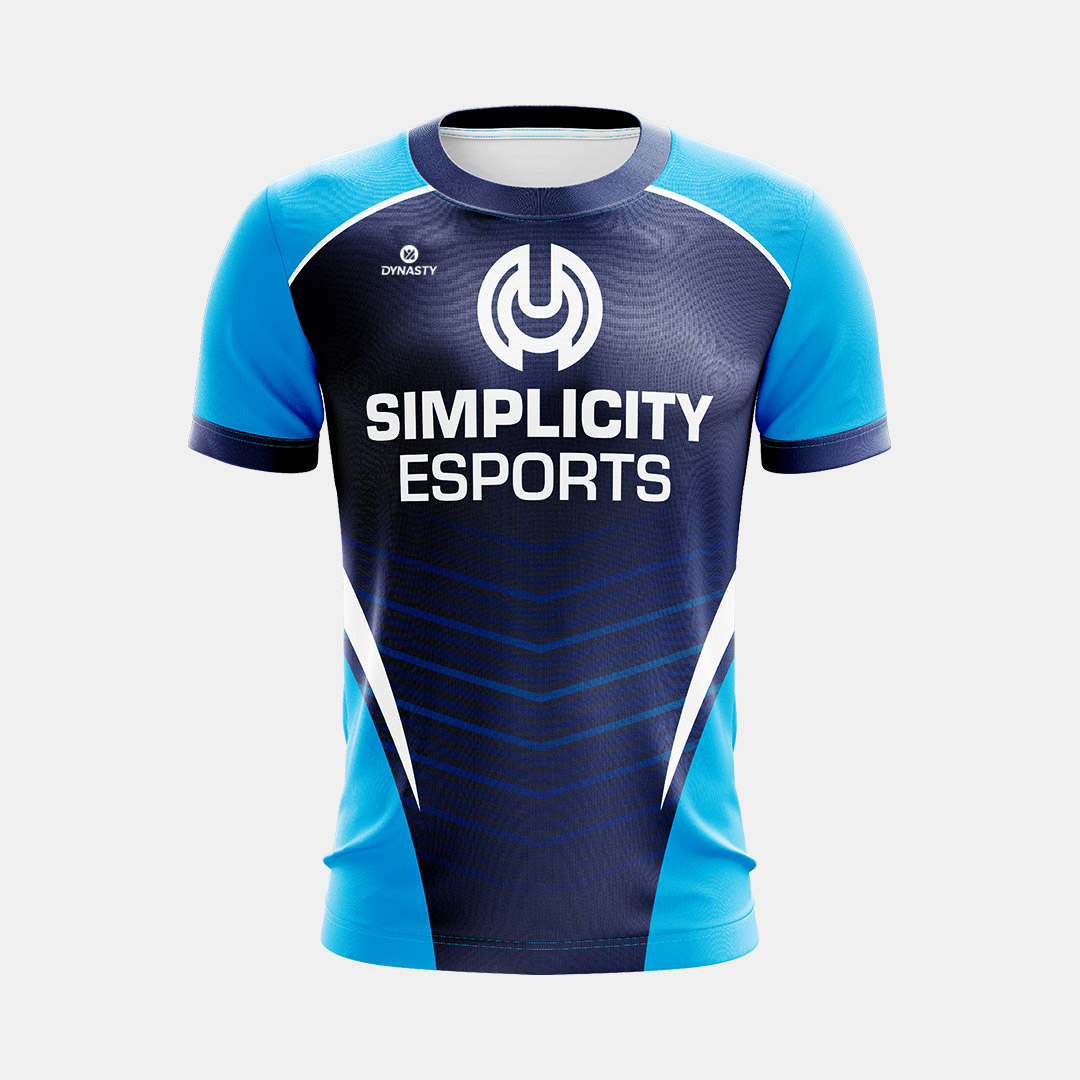 Dynasty Athletics Sublimated Esports Jersey Simplicity Navy Front 1