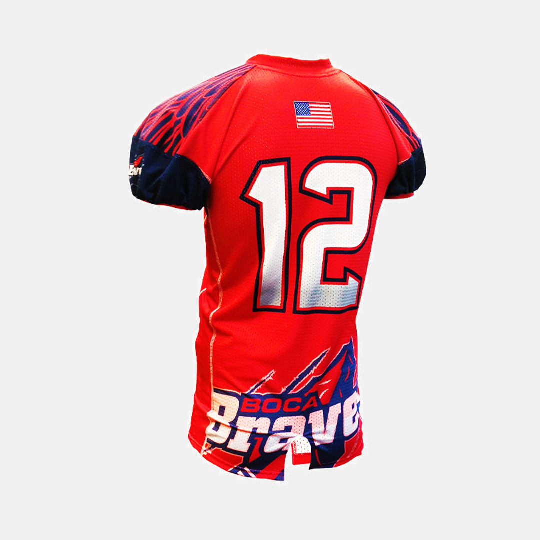 Dynasty Athletics Sublimated Football Jersey Braves Flex Tricot Back