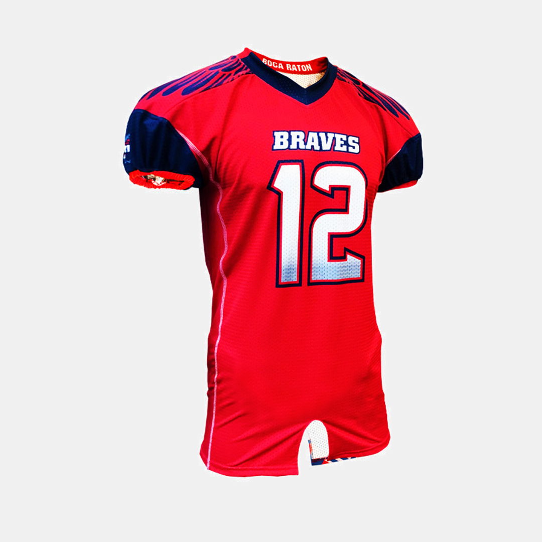 Dynasty Athletics Sublimated Football Jersey Braves Flex Tricot Front