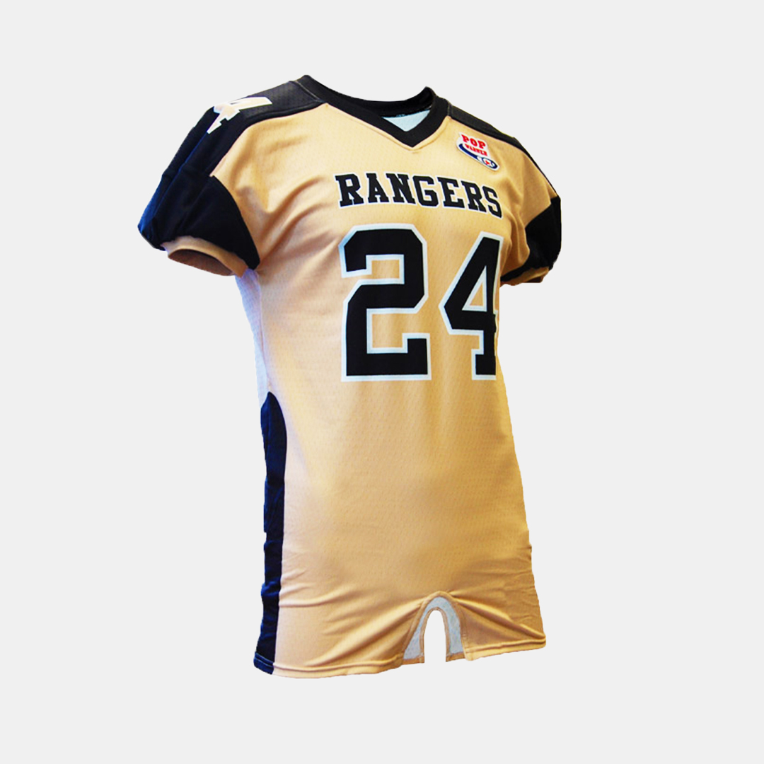 Dynasty Athletics Sublimated Football Jersey Rangers Flex Mesh Front