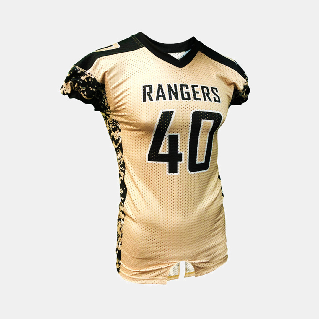Dynasty Athletics Sublimated Football Jersey Rangers Flex Tricot Front