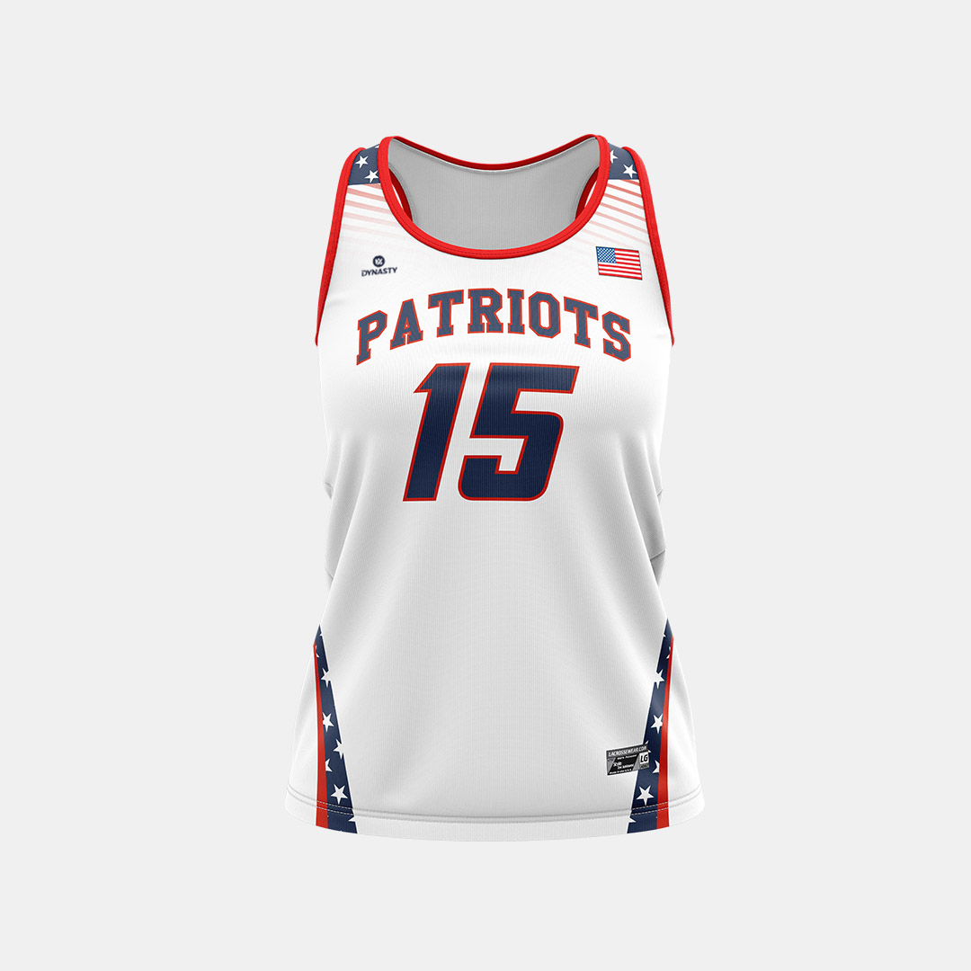 Dynasty Athletics Sublimated Racerback Jersey Front Patriots