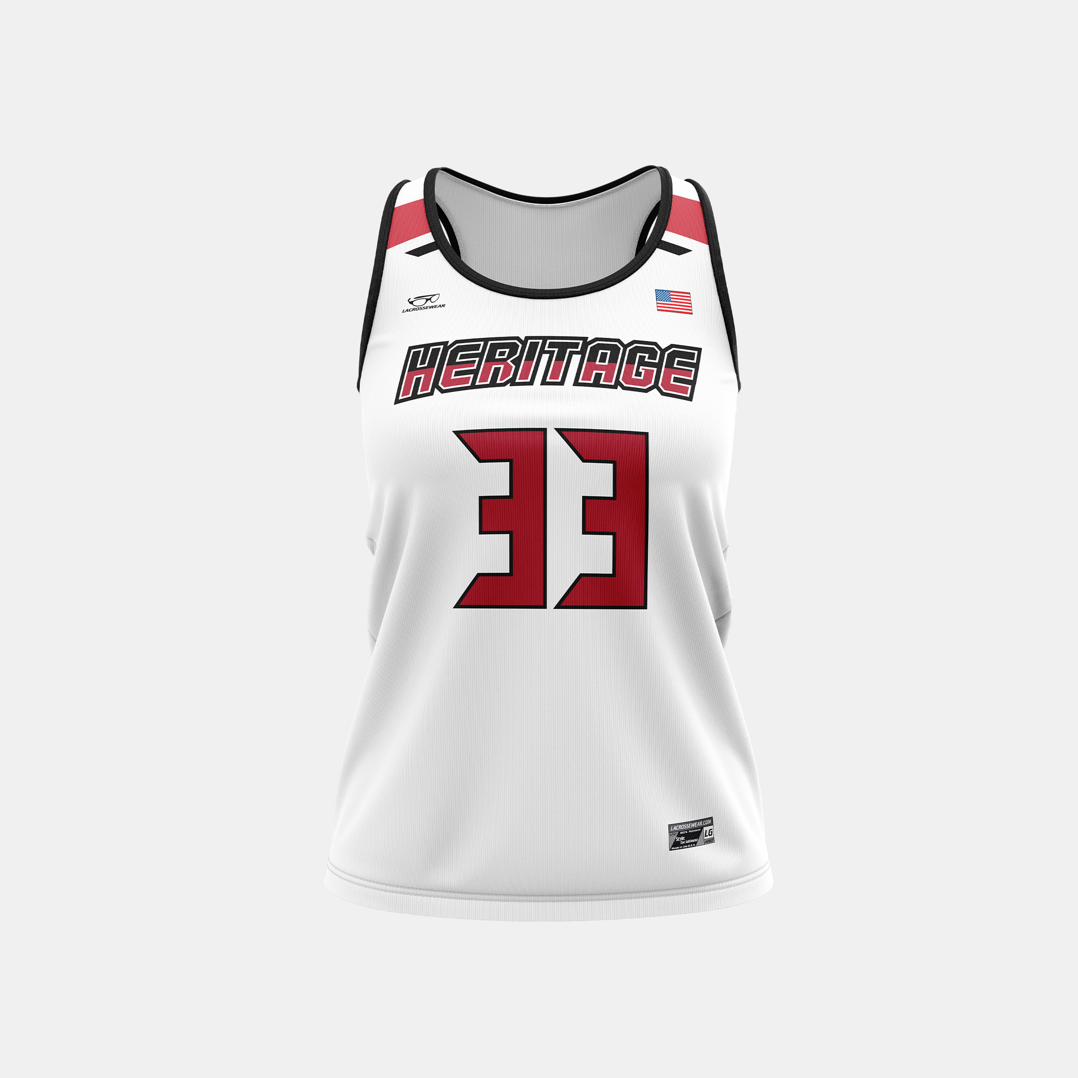 Heritage Racerback Jersey White Front