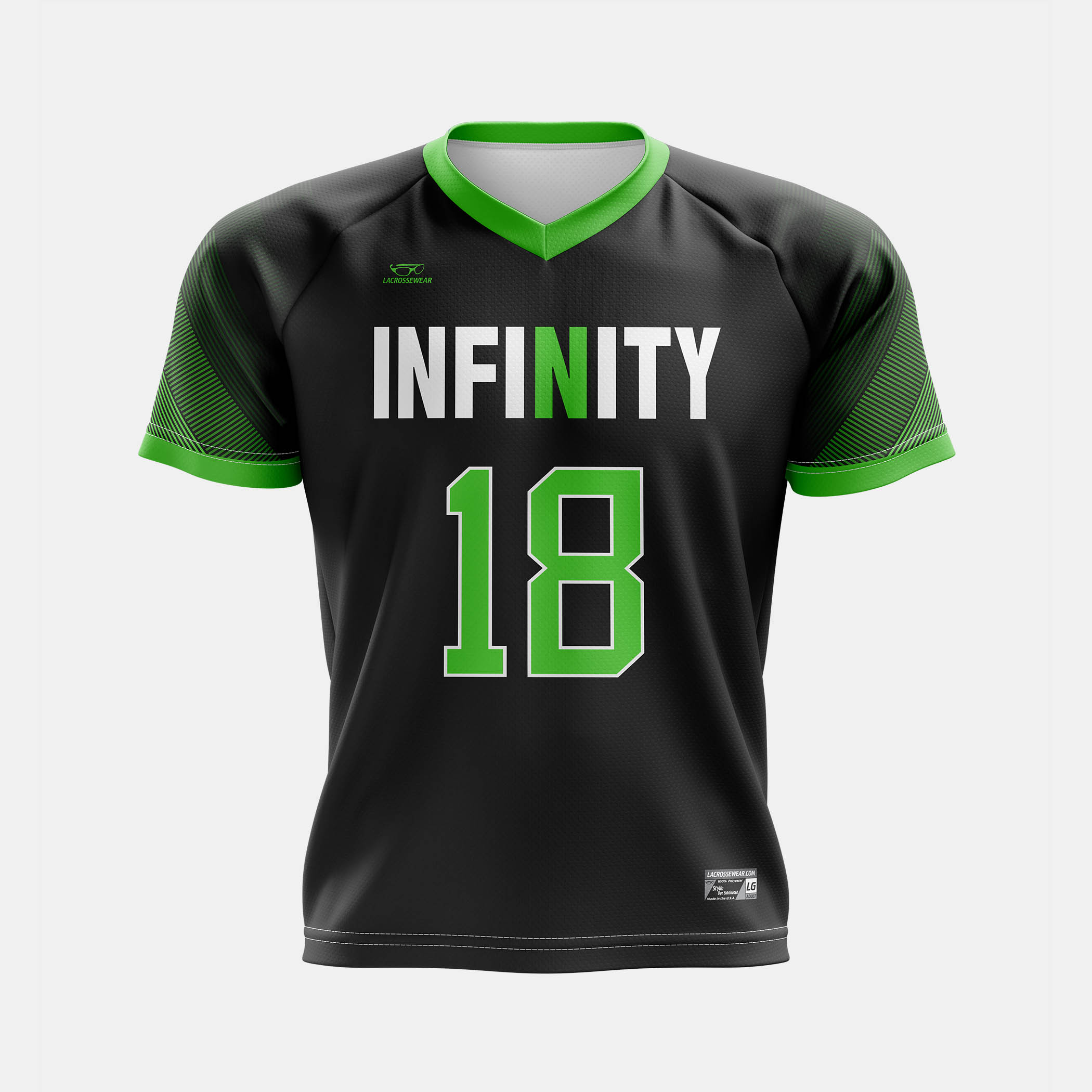 Infinity Jersey Black Front