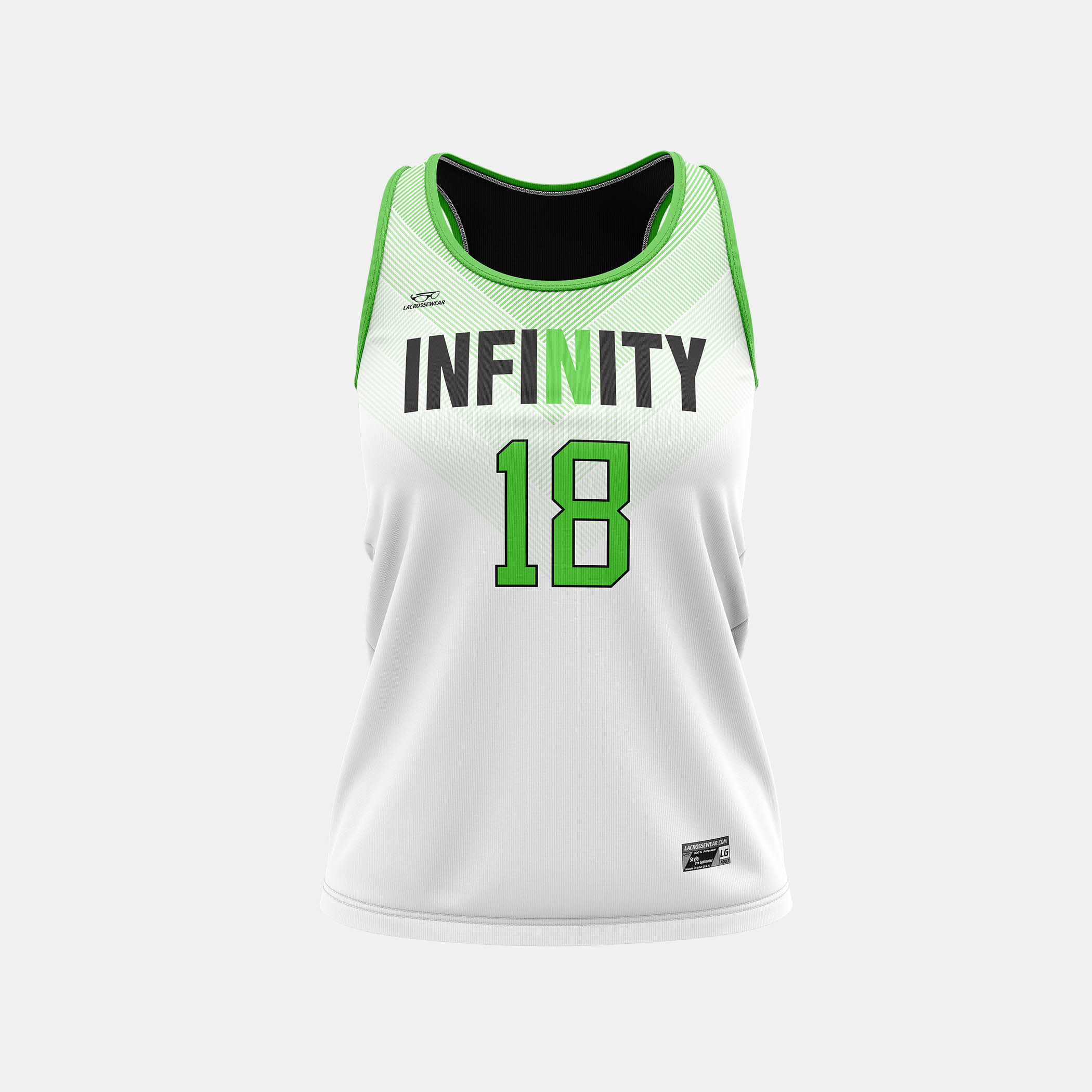 Infinity Racerback Jersey White Front