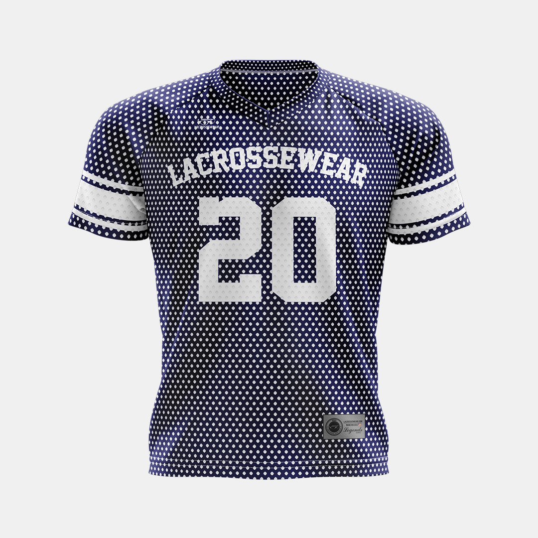 Lacrossewear Sublimated Port Hole Jersey Navy Front