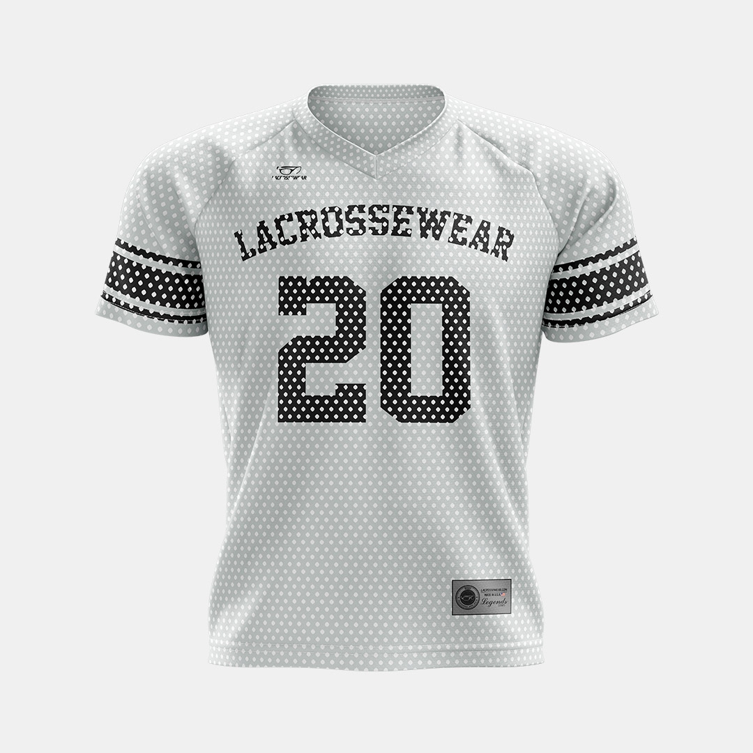 Lacrossewear Sublimated Port Hole Jersey White Front
