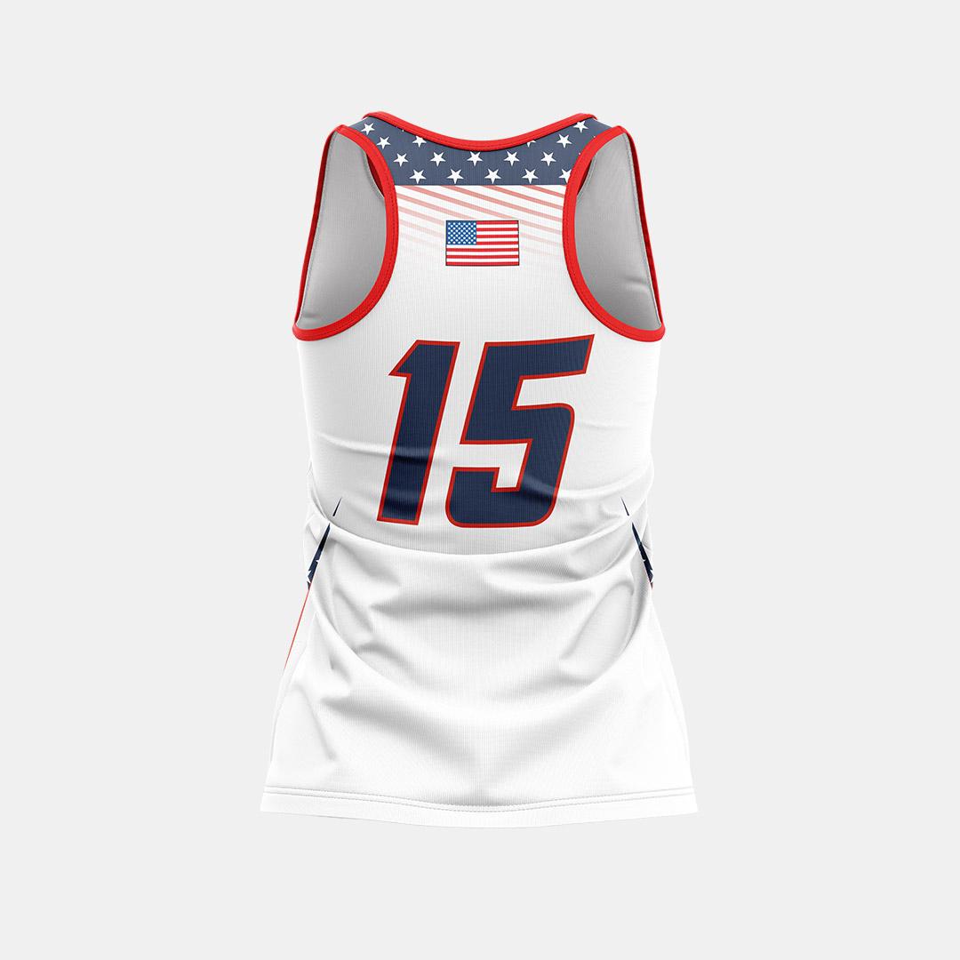 Lacrossewear Sublimated Racerback Jersey Back Patriots