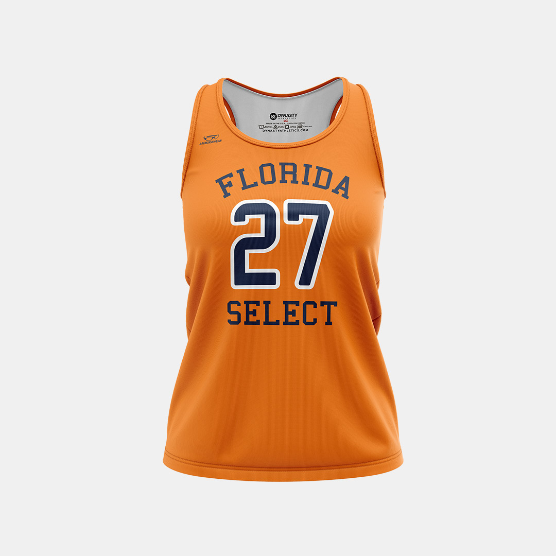 Lacrossewear Sublimated Racerback Jersey Front FL Select