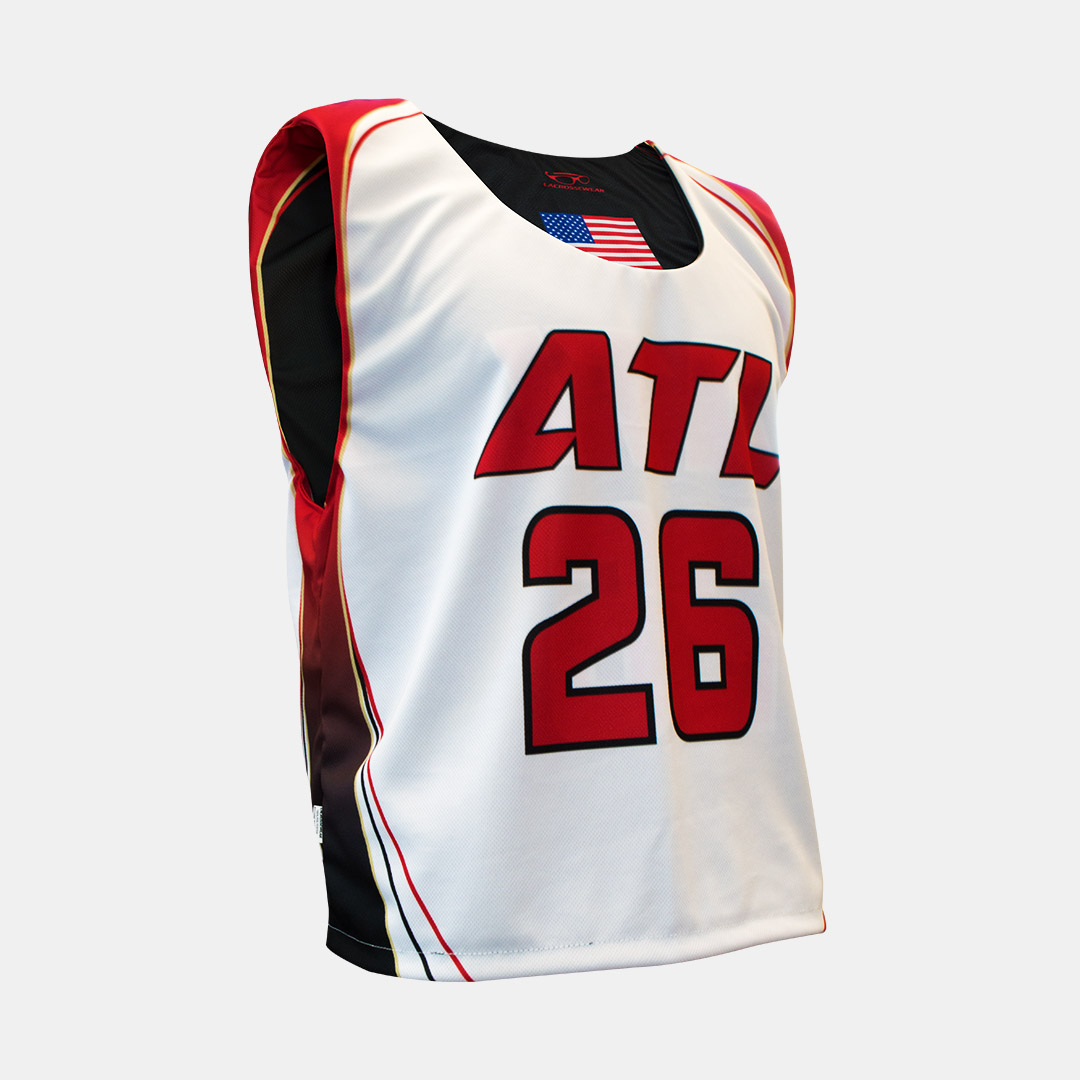 Lacrossewear Sublimated Rev Jersey ATL White Front