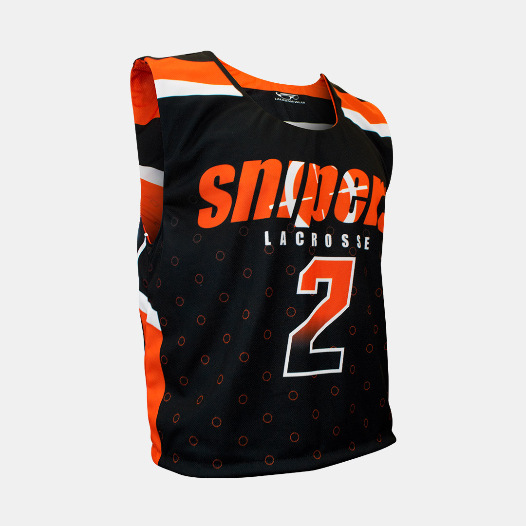 Lacrossewear Sublimated Rev Jersey Snipers Black Front