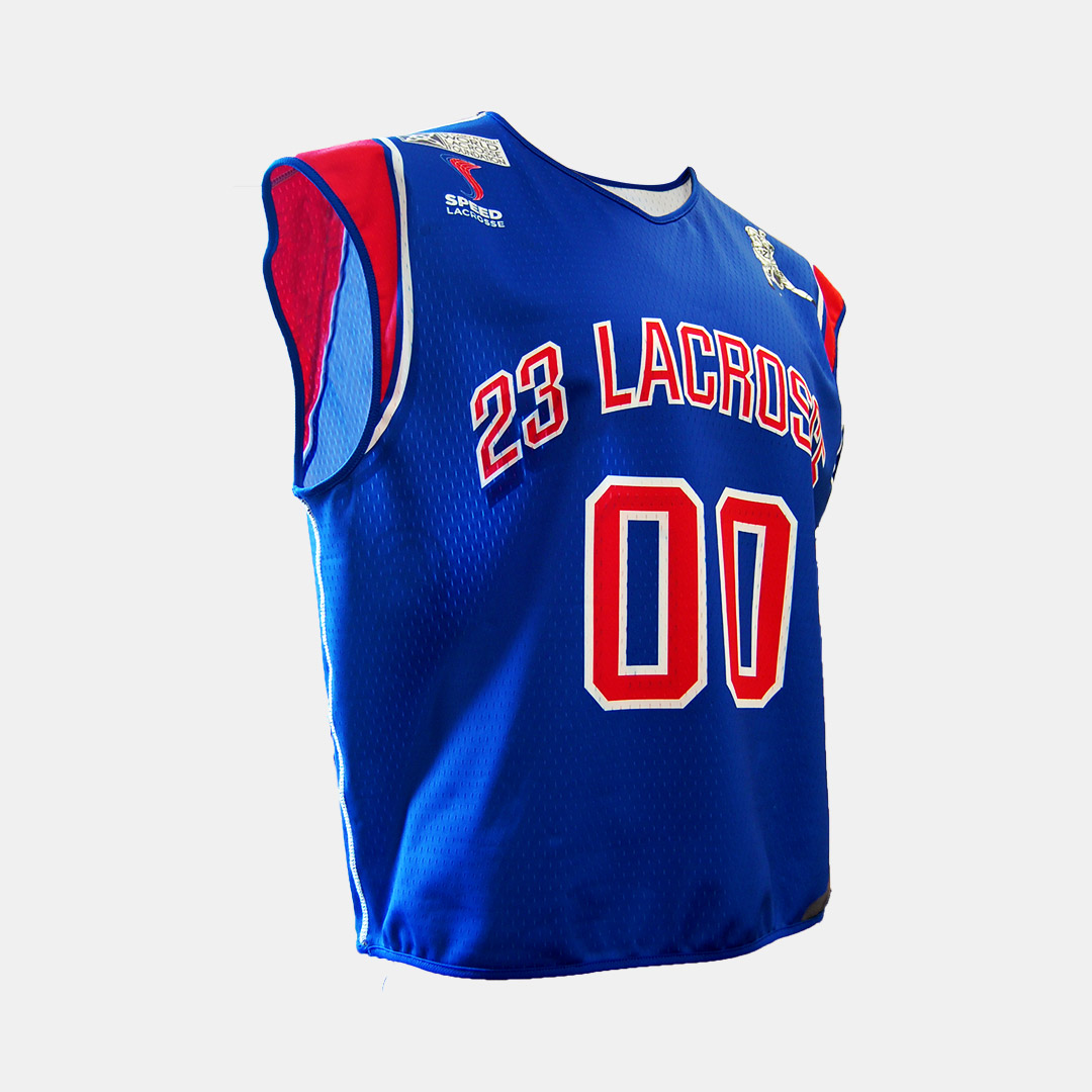 Lacrossewear Sublimated Rev Jersey Speed Lax Blue Front