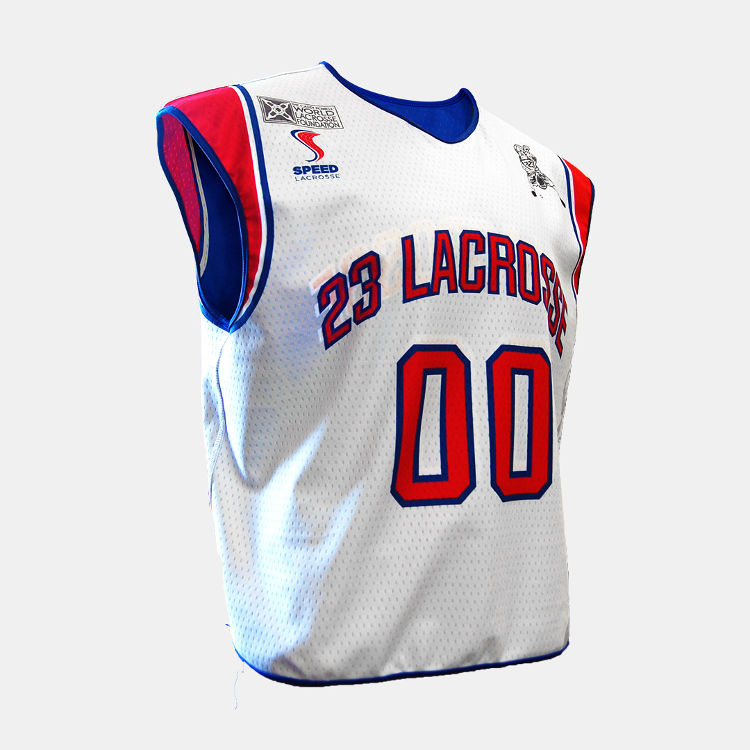 Lacrossewear Sublimated Rev Jersey Speed Lax White Front
