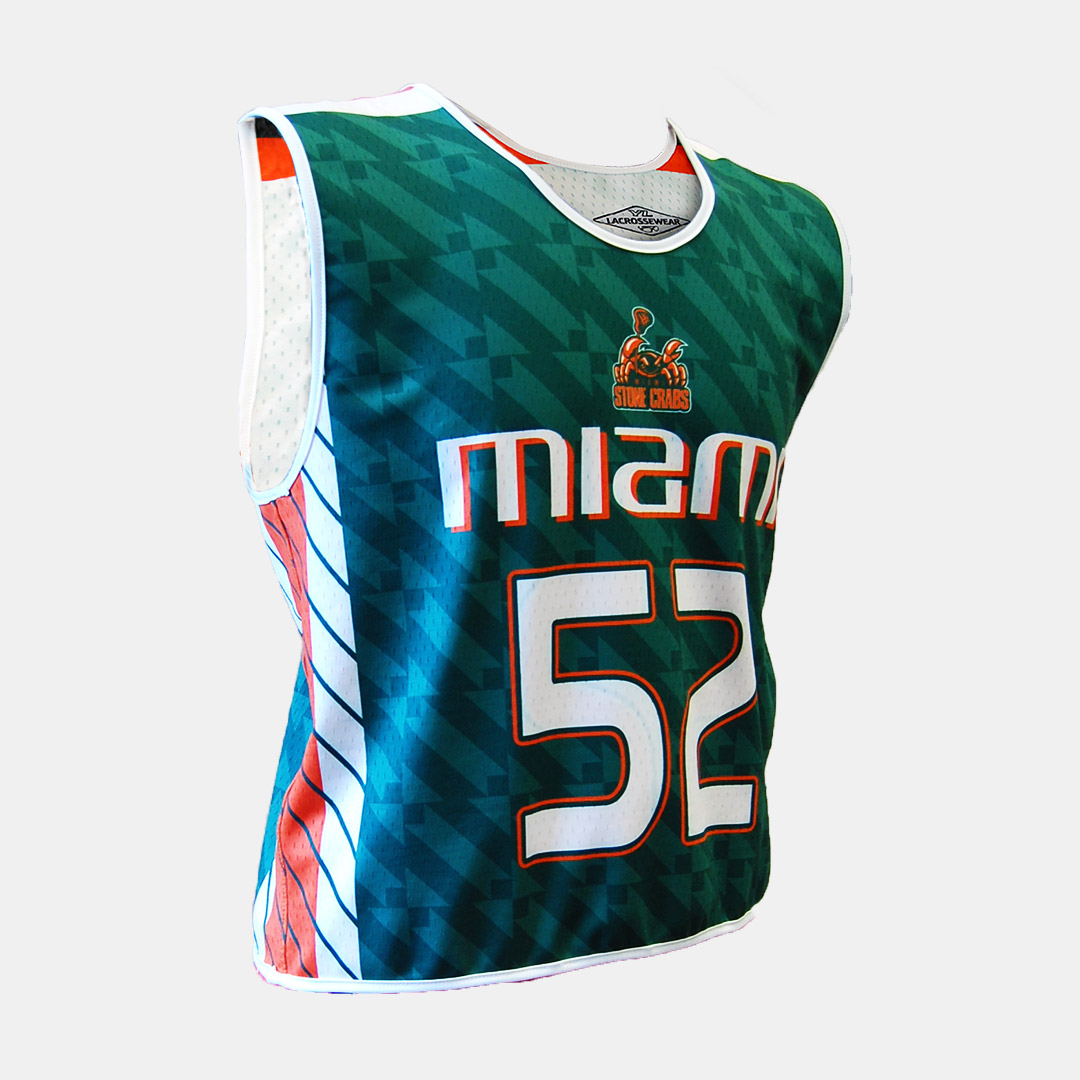 Lacrossewear Sublimated Rev Jersey UM Green Front