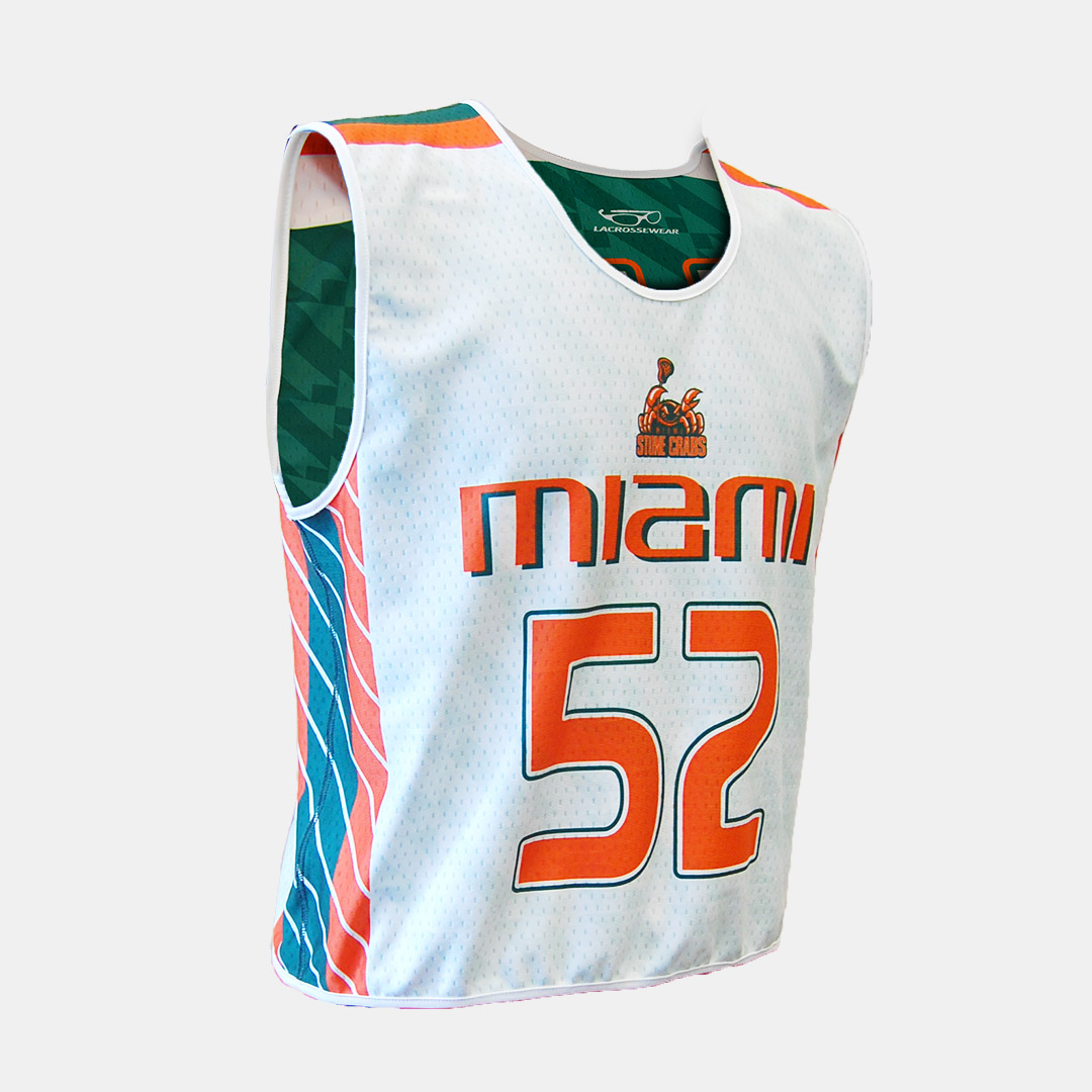 Lacrossewear Sublimated Rev Jersey UM White Front