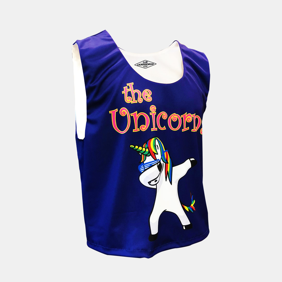 Lacrossewear Sublimated Rev Jersey Unicorns Purp Front