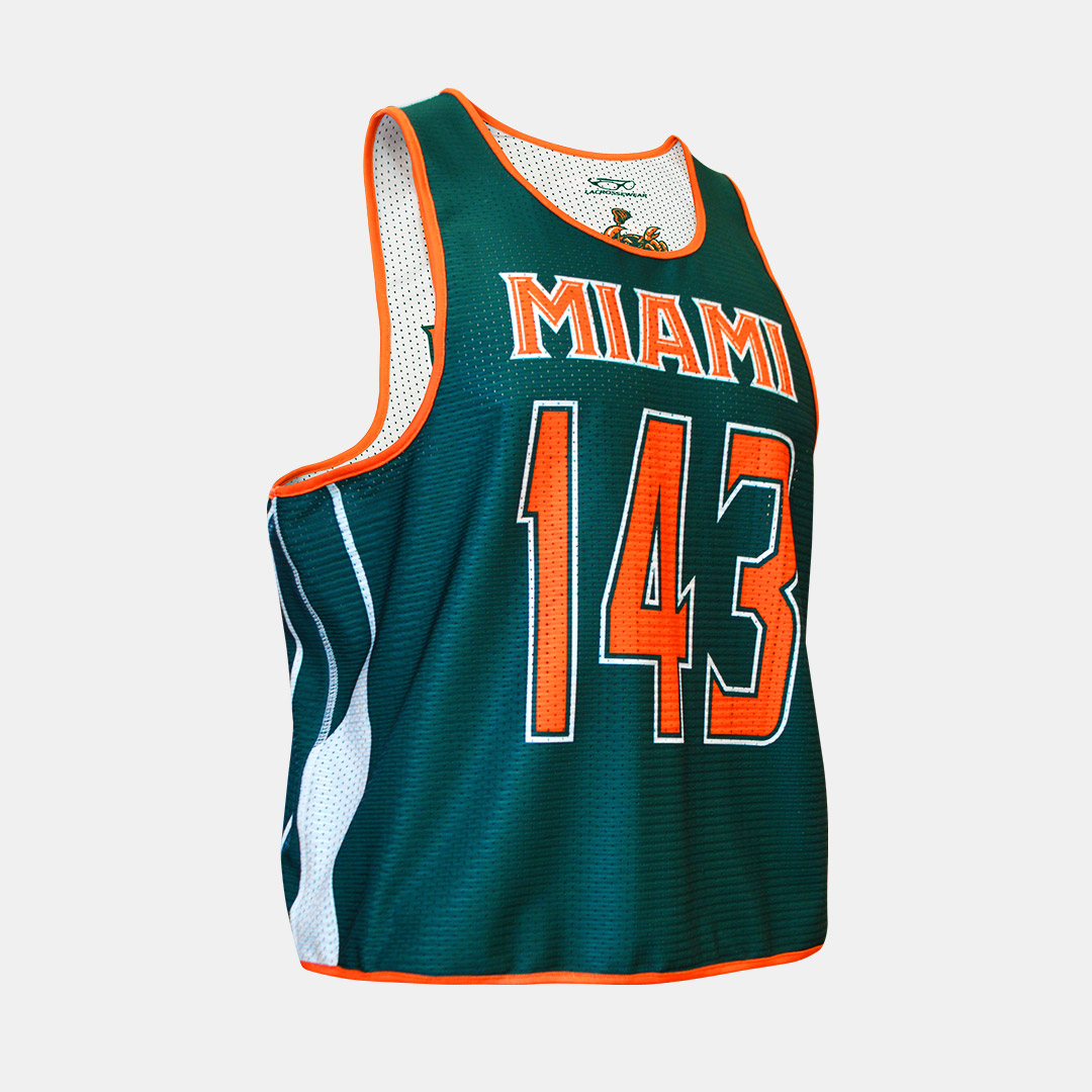 Lacrossewear Sublimated Thin Strap Rev Jersey UM Green Front