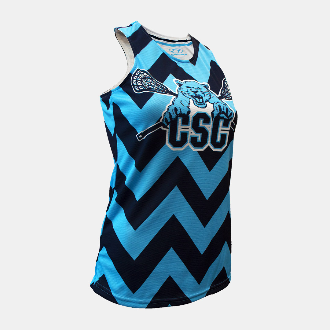 Lacrossewear Sublimated Womens Rev Jersey CSC Blue Front