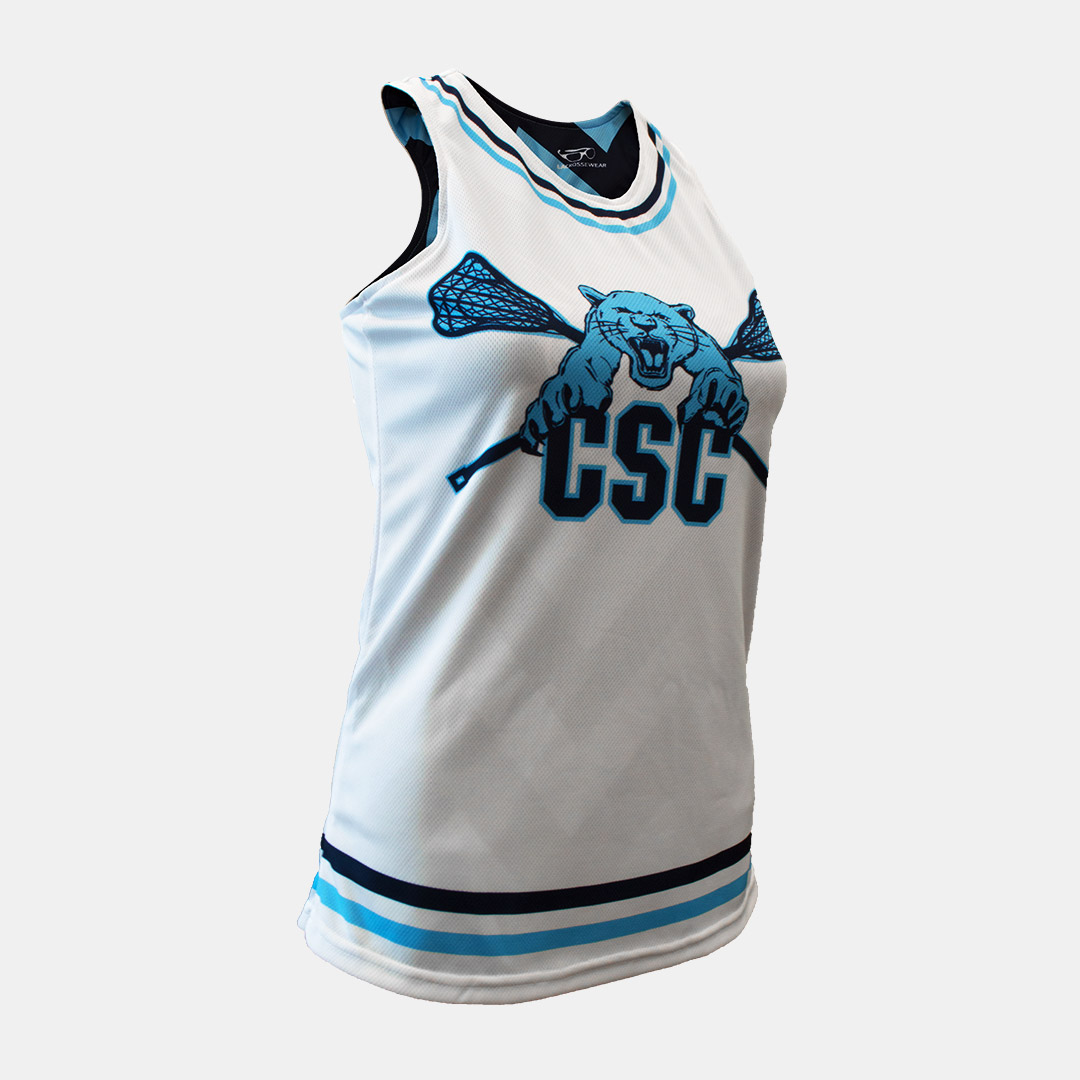 Lacrossewear Sublimated Womens Rev Jersey CSC White Front