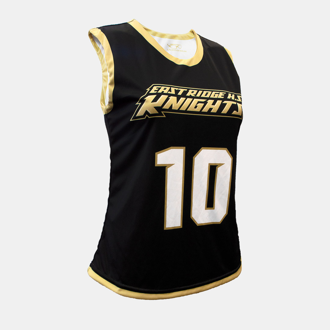 Lacrossewear Sublimated Womens Rev Jersey Knights Black Front