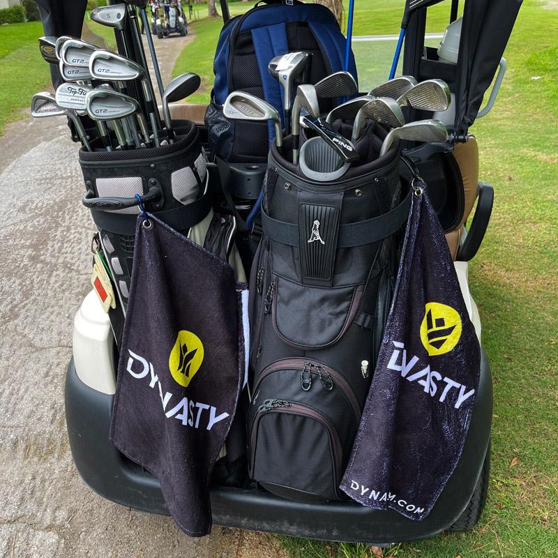 Dynasty Custom Sublimated Golf Towel Golf Cart