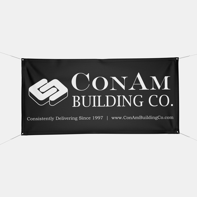 Dynasty Custom Outisde Canvas Sublimated Banner ConAm Building
